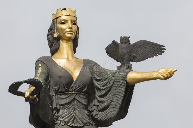 索非亚,保加利亚2016年4月14日-圣徒索非亚的纪念碑在Sofi 免版税库存照片