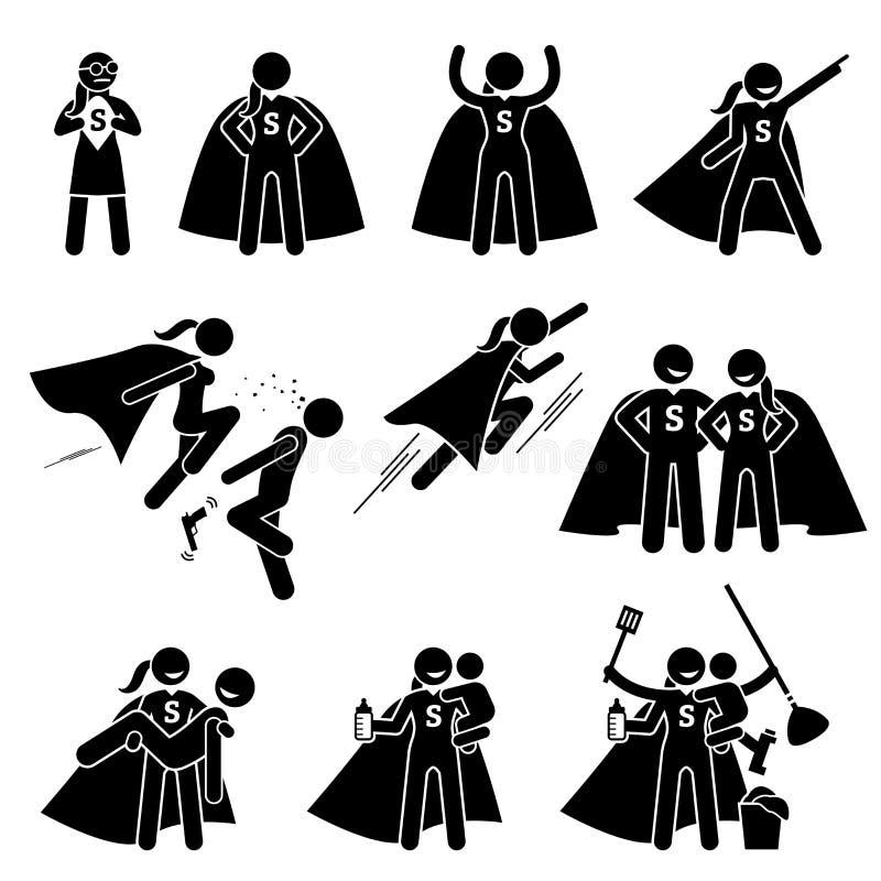 非凡的女性女英雄女性超级英雄 皇族释放例证