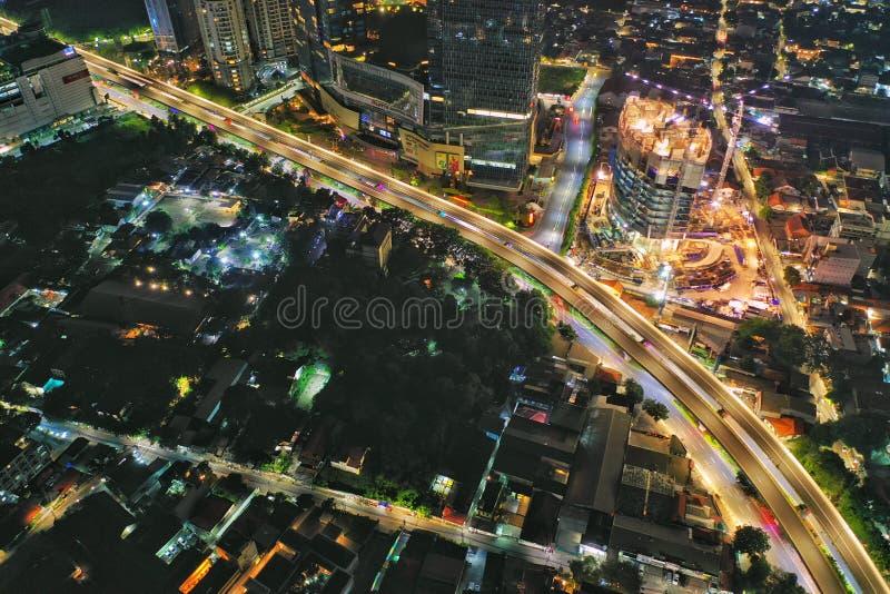 非卡萨布兰卡收费公路,印度尼西亚 库存图片