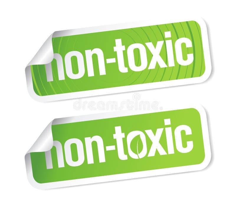 非含毒物的贴纸 库存例证
