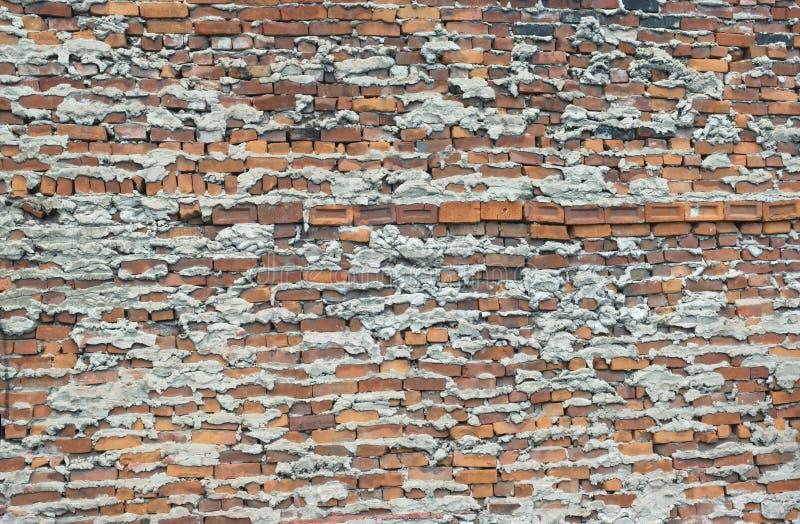 非常不足被完成的砖墙坏技术坏工作 库存图片