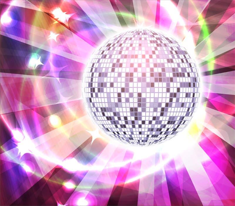 非常与光芒的明亮的完整色彩的镜子迪斯科球,传染媒介illus 皇族释放例证