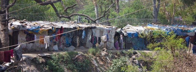 非常住宿条件差在印度 免版税图库摄影