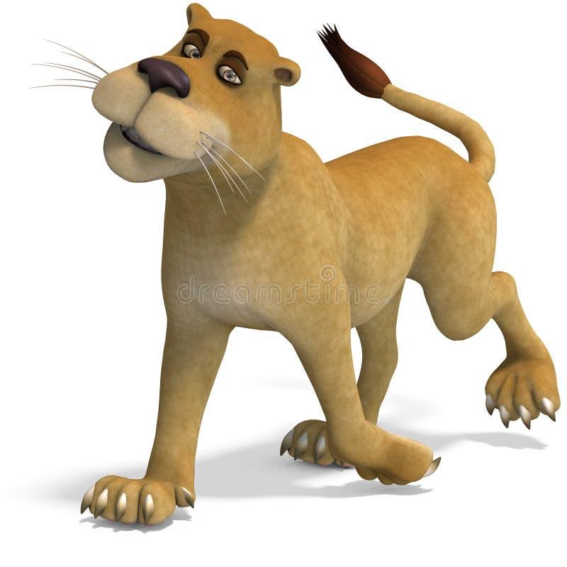 非常动画片逗人喜爱的母滑稽的狮子 皇族释放例证