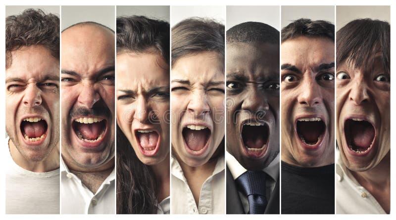 非常大声尖叫人的 免版税图库摄影