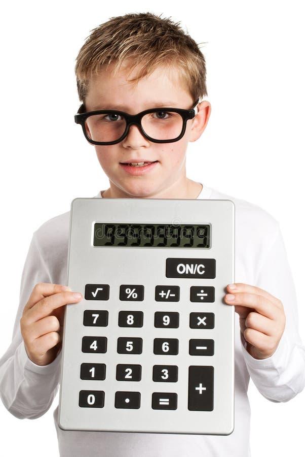 非常大男孩计算器藏品 免版税图库摄影