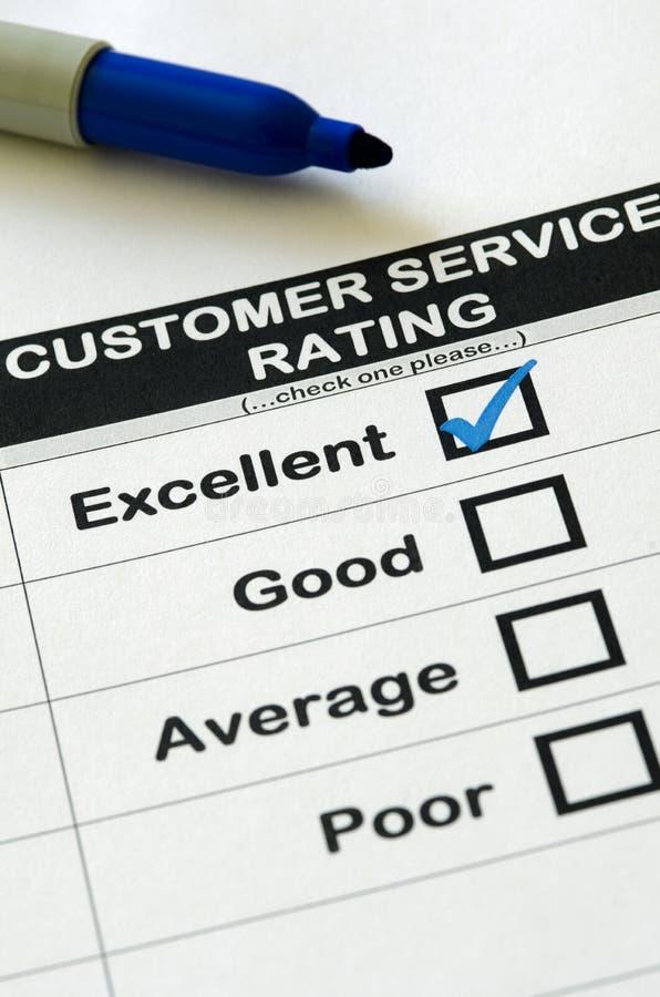 非常好的客户服务部评级 免版税库存图片