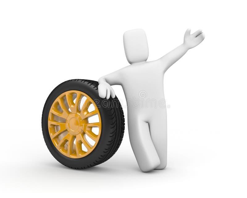 非常好的聘用人员出售轮子 皇族释放例证