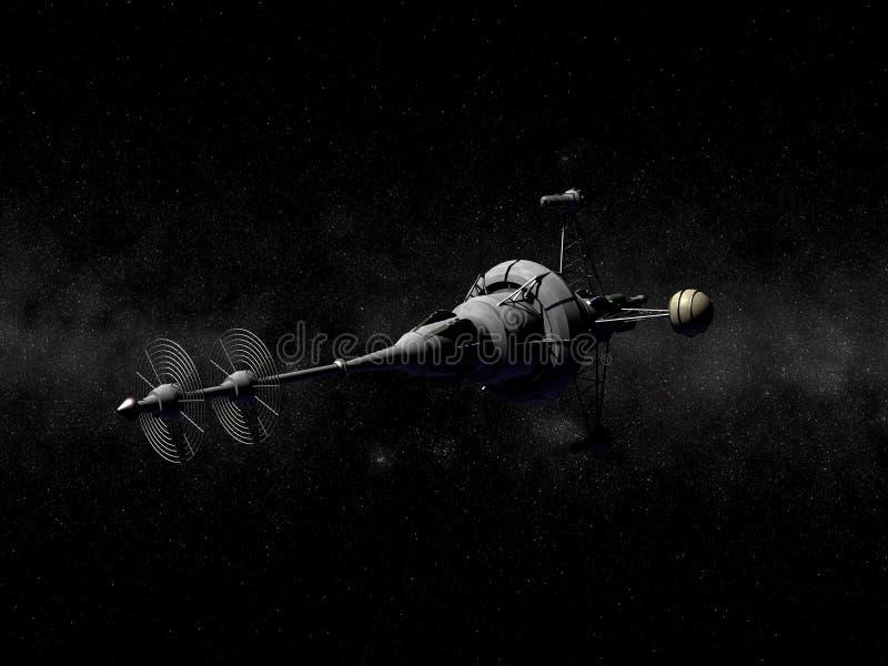 非常尖的太空飞船 图库摄影