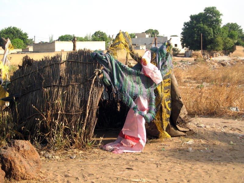 非常恶劣的房子在塞内加尔 图库摄影
