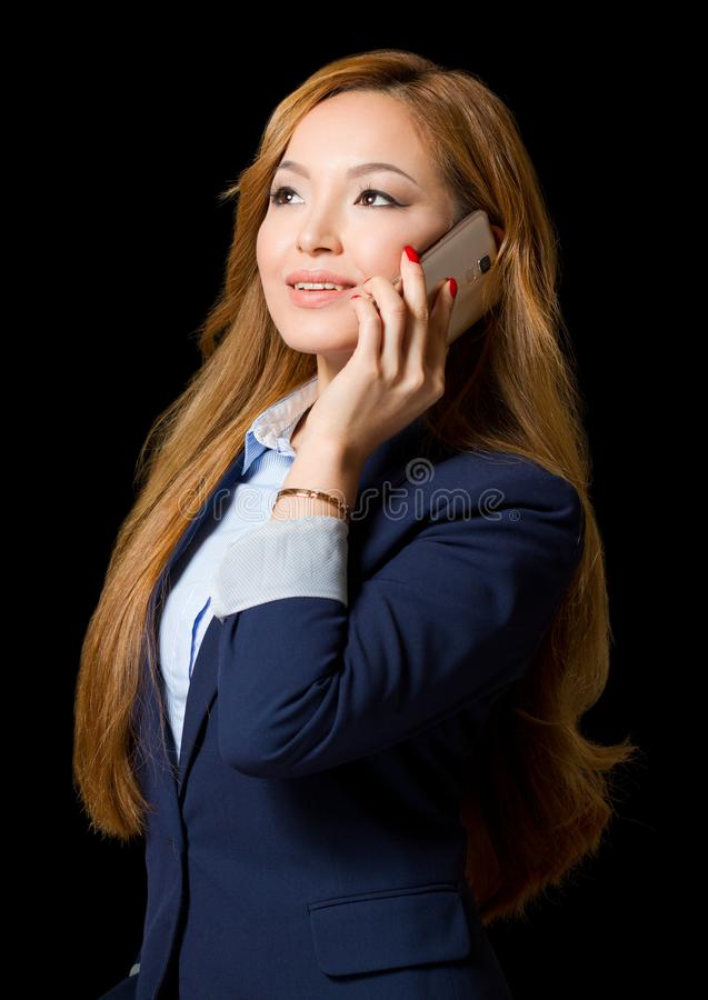 非常时髦的年轻亚裔女实业家 库存照片