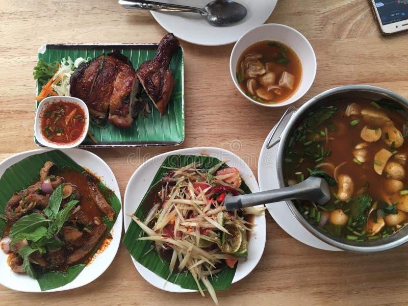 非常热墙纸泰国的食物 免版税库存图片