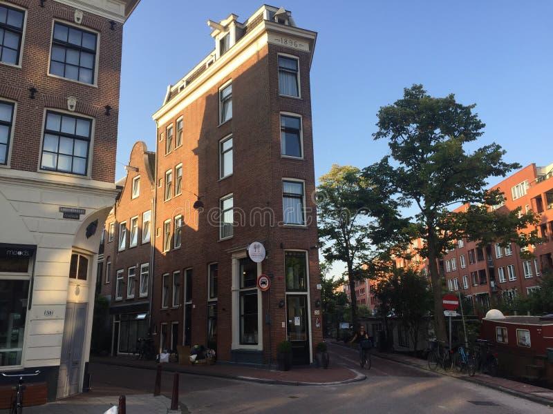 非常狭窄的旅馆在阿姆斯特丹 库存图片