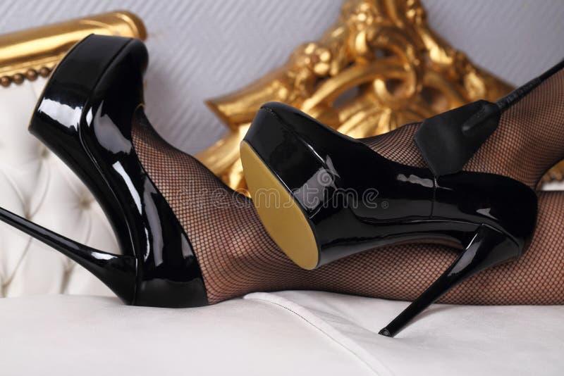 非常精密妇女腿 免版税库存照片
