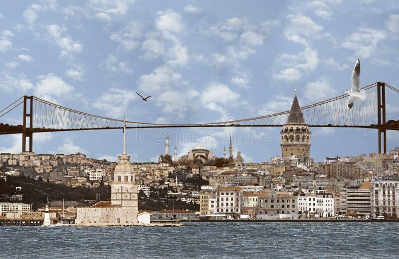 非常背景伊斯坦布尔大照片 库存图片