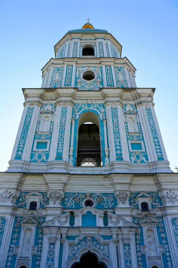 非常高蓝色教会在基辅 库存照片