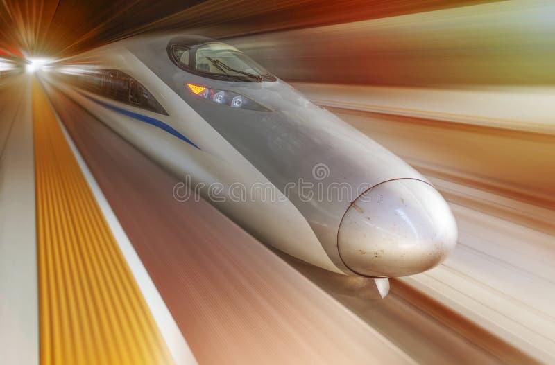 非常高速火车 库存图片