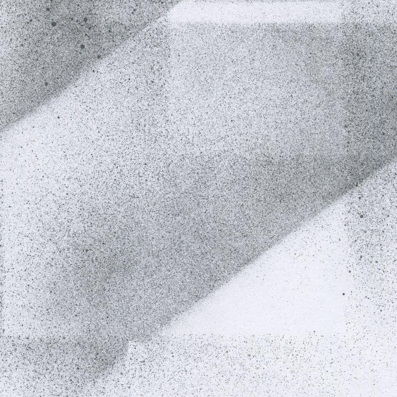非常HIGHT决议 与气刷作用的墙纸 在白皮书的黑丙烯酸漆冲程纹理 疏散泥 库存照片