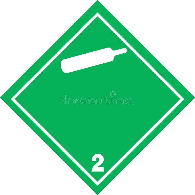 非易燃性气体含毒物 皇族释放例证