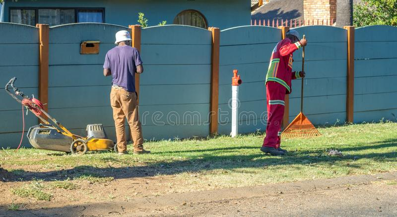 非正规部门的工作者在南非 库存图片