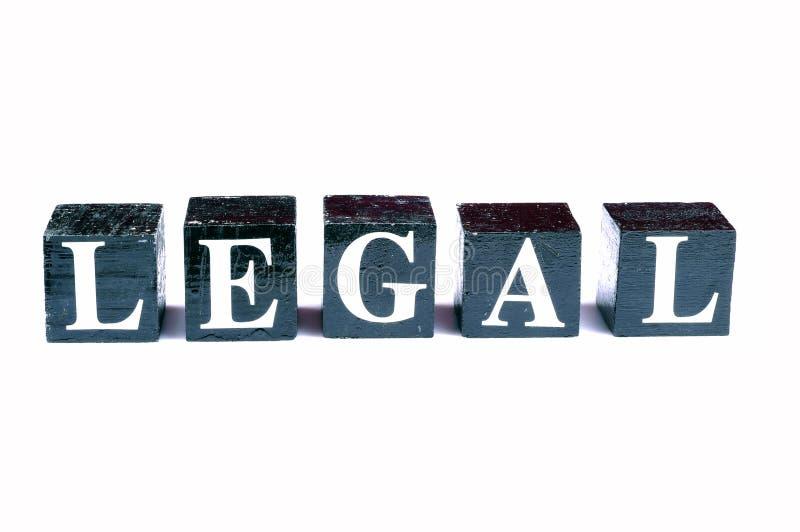 非法合法与 免版税库存照片