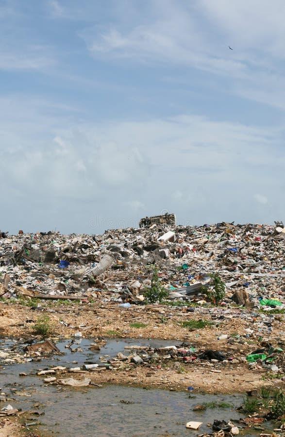 非法的垃圾堆积场 库存图片