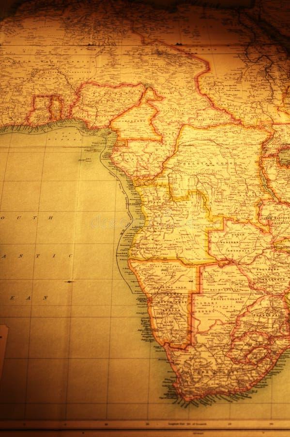 非洲东部映射老南部 免版税库存照片
