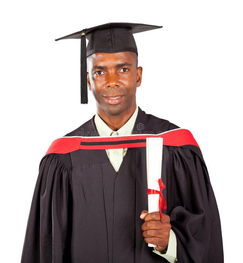 非洲人毕业生 免版税库存照片