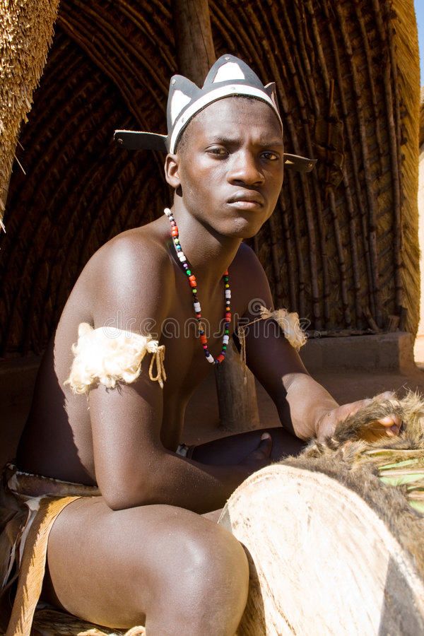 非洲人祖鲁族人 图库摄影
