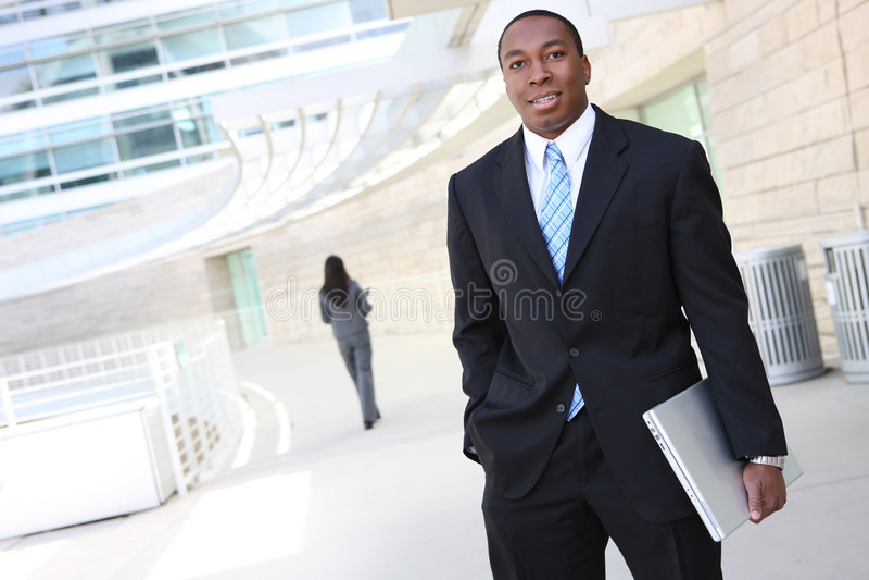 非洲企业英俊的人 免版税库存照片