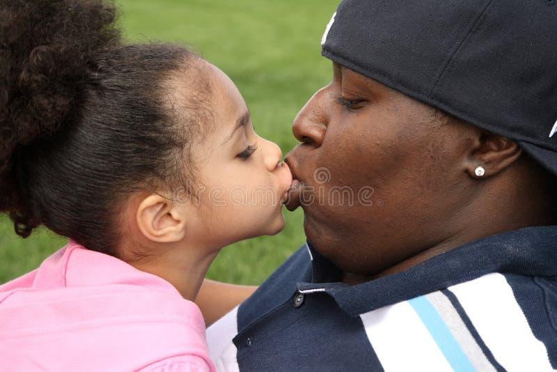 非洲儿童父亲 库存图片