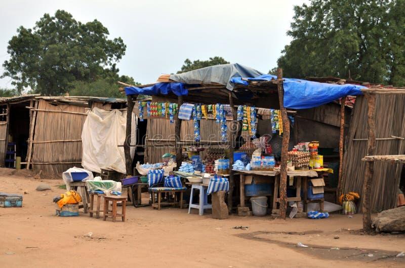 非洲副食品商店 库存照片