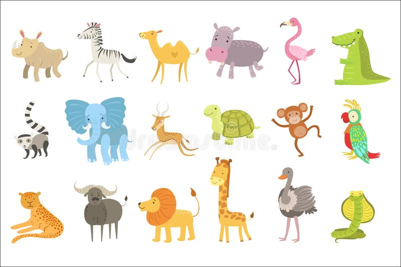 非洲动物例证集合 库存例证