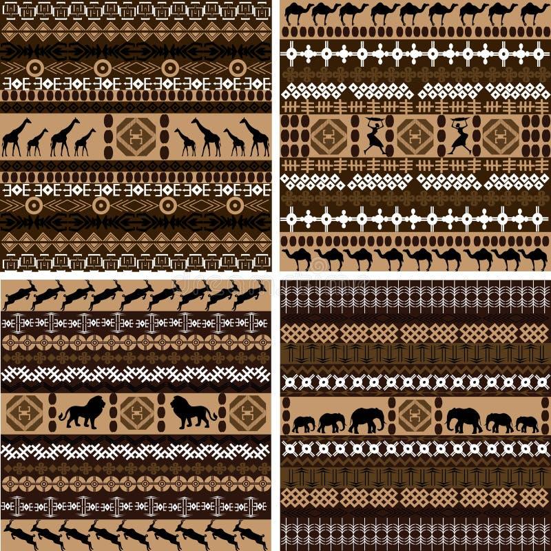 非洲动物背景四个主题 皇族释放例证