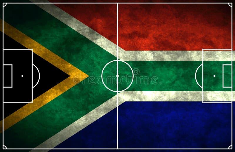 非洲南域的足球 库存例证
