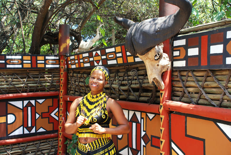 非洲南妇女祖鲁族人 免版税图库摄影