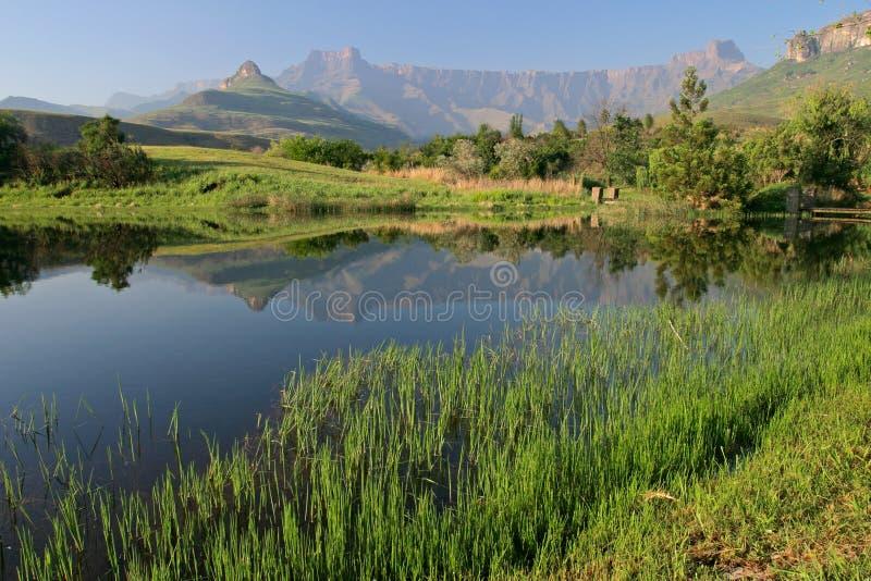 非洲南drakensberg的山 免版税库存照片