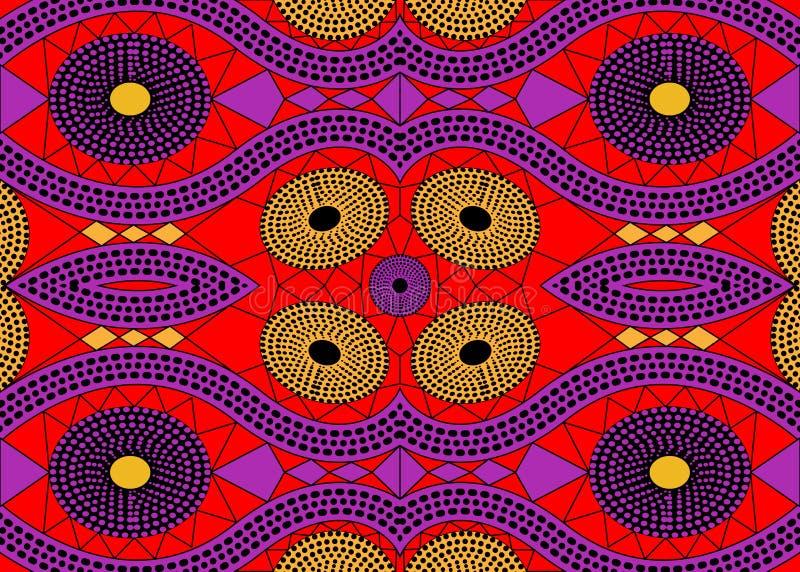 非洲印刷品织品,种族手工制造装饰品您的设计,种族和部族主题几何元素的 传染媒介非洲纹理 皇族释放例证