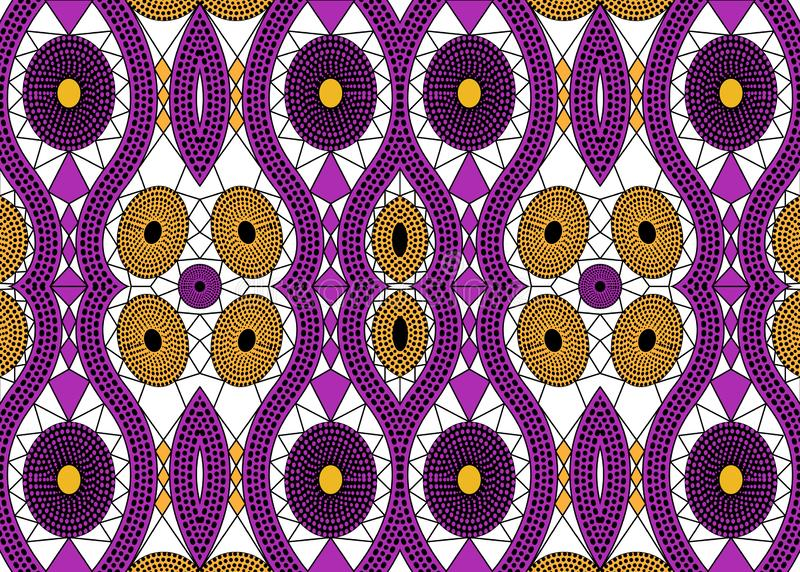 非洲印刷品织品,种族手工制造装饰品您的设计,种族和部族主题几何元素的 传染媒介非洲纹理 库存例证