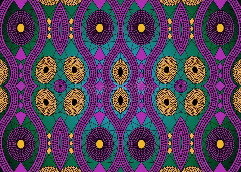 非洲印刷品织品,种族手工制造装饰品您的设计,种族和部族主题几何元素的 传染媒介非洲纹理 向量例证