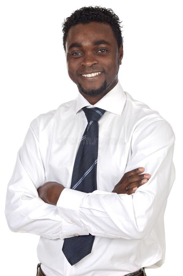 非洲可爱的生意人 免版税库存照片