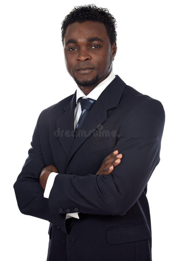 非洲可爱的生意人 图库摄影