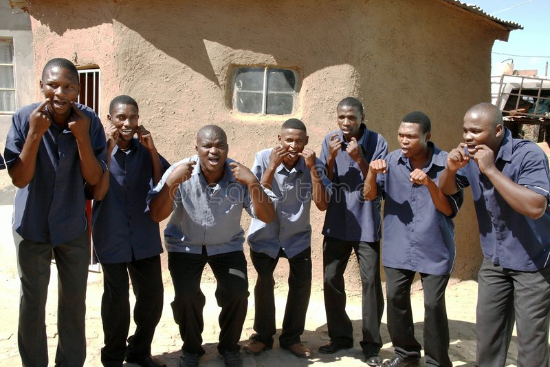 非洲唱诗班歌唱家 免版税图库摄影