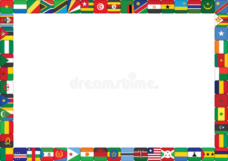 非洲国家标志 库存例证