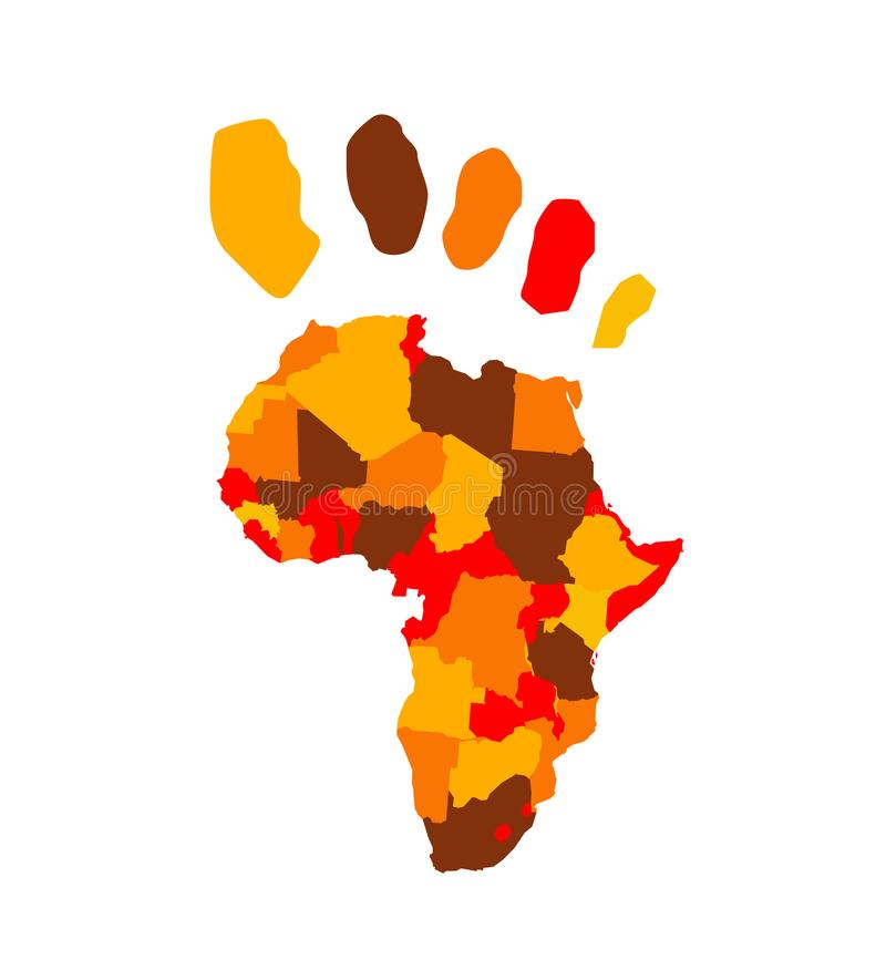 非洲地图传染媒介例证 皇族释放例证
