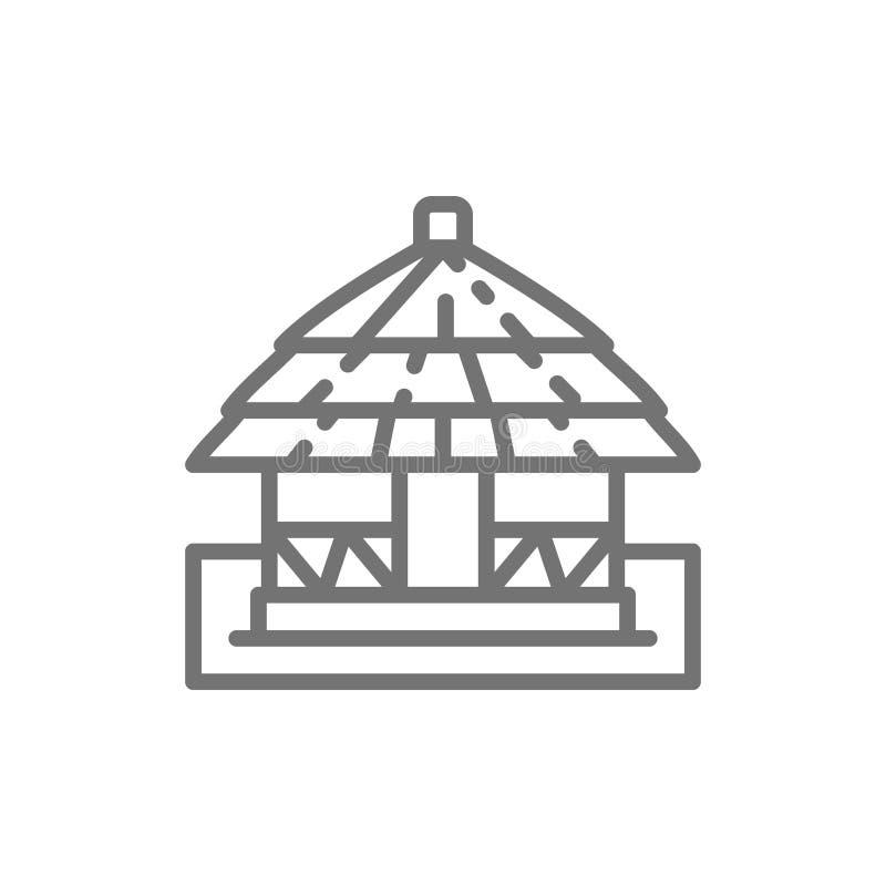 非洲地方传统房子线象 库存例证
