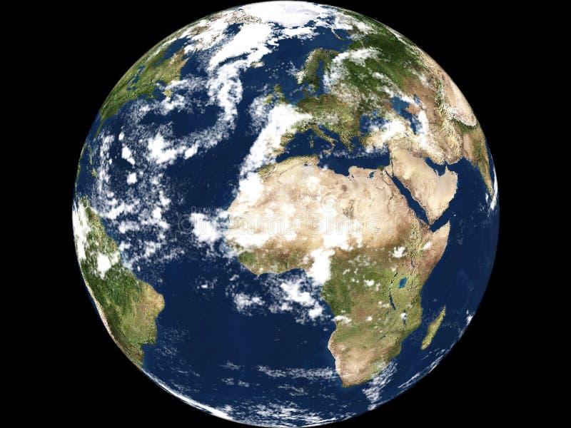 非洲地球视图 库存例证
