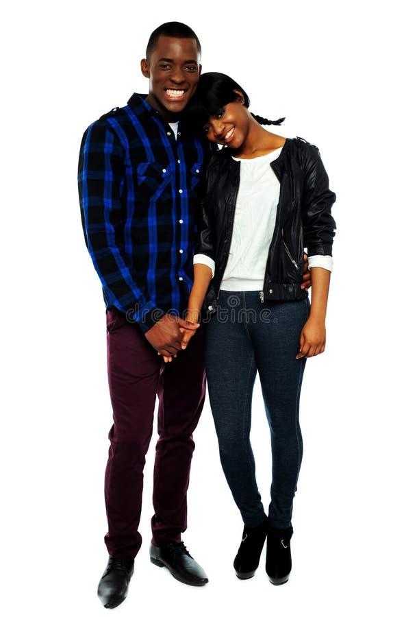 非洲夫妇递藏品年轻人 图库摄影