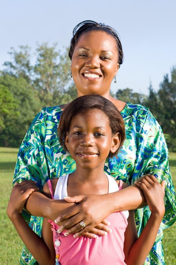 非洲女儿母亲 免版税库存照片