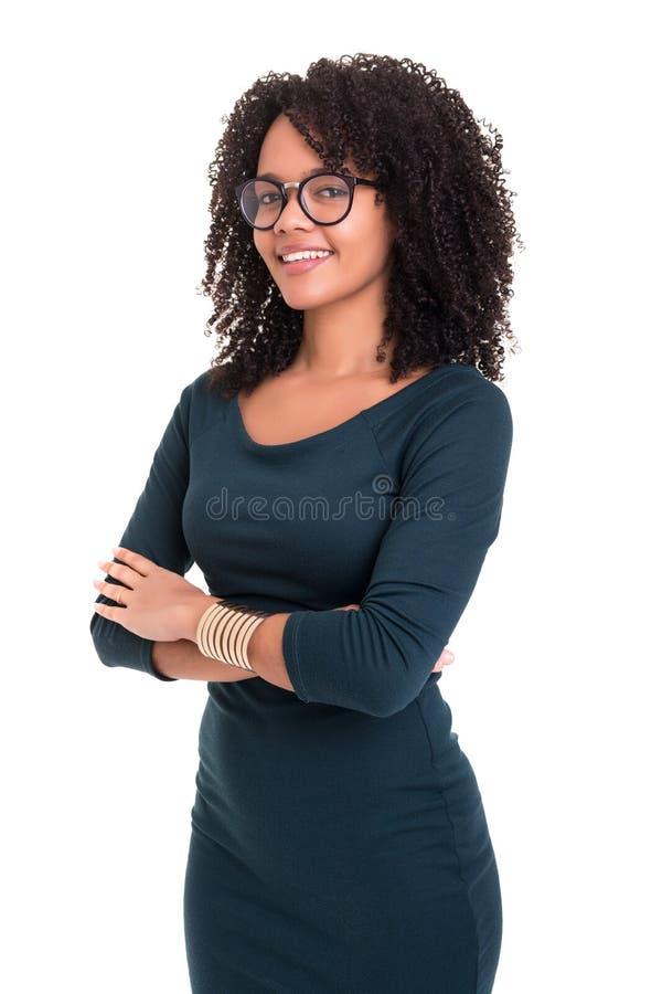 非洲女商人 免版税库存图片